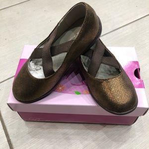 Other - Balleto brand new girls bronze ballet flat shoes
